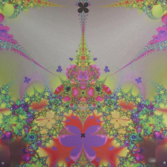 "Butterfly Hub Digital Art printed on metal, single edition 20x20"" $325.00"