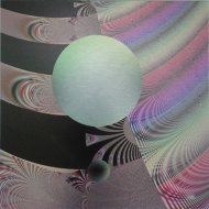 """The Ball Went Over the Fence 4. Artist Lianne Todd. Original fractal digital art, single edition print on metal. 12x12"""". SOLD. Private Collection."""