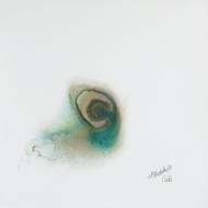 """Nebula Negative I. Watercolour on Yupo. 10x10"""". Artist Lianne Todd. SOLD. Private Collection."""