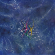 "Stardance. Watercolour on gessoed paper. 20x20"". $650.00, framed. Artist Lianne Todd."