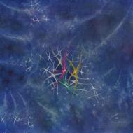 "Stardance. Watercolour on gessoed paper. 20x20"". $650.00, framed. Artist Lianne Todd."