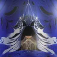 "The Mage Emerges. Digital Art Printed on Metal, single edition. 24x24"". Artist Lianne Todd. SOLD. Private Collection."