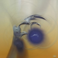 """Wind. Digital Fractal Art on metal, single edition print. 20x20"""". Lianne Todd. SOLD. Private Collection."""