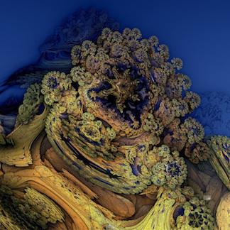 Ocean Floor. Digital Fractal Art. Lianne Todd.