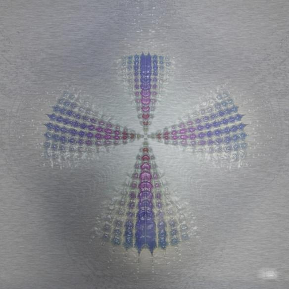 "Symbol. Digital fractal art on metal. Single edition print. 16x16"". Lianne Todd"