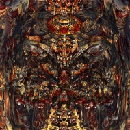 "Feast. Digital Fractal Art printed on metal, single edition print. 24x24"". Artist Lianne Todd. $450.00"