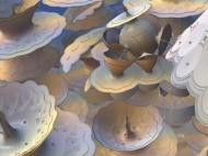 "Time for Tea. Digital Fractal Art. Single metal print is 24x32"". Artist Lianne Todd. $575.00"